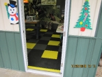 A checkered floor greets our valued customers