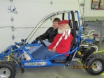 Country Carts owner (Larry Bryan) with Santa