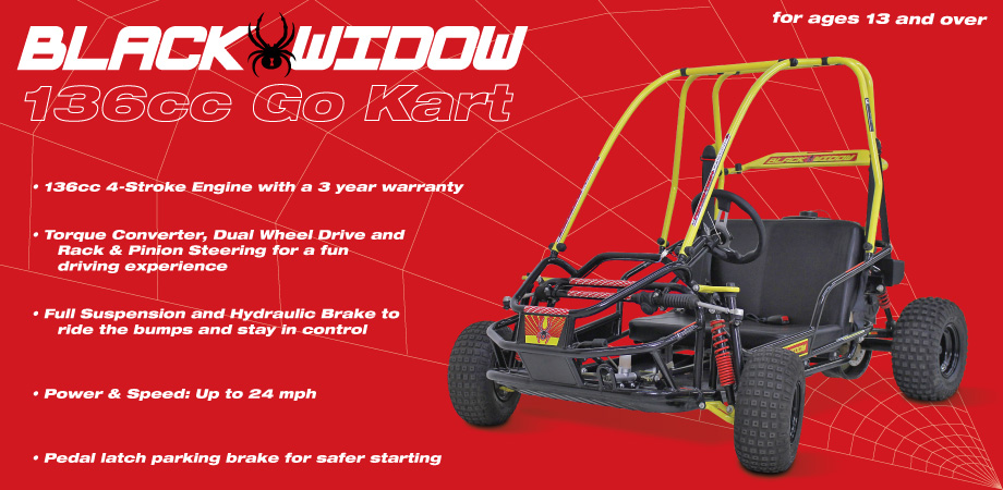 American Landmaster Black Widow Off Road Go Kart